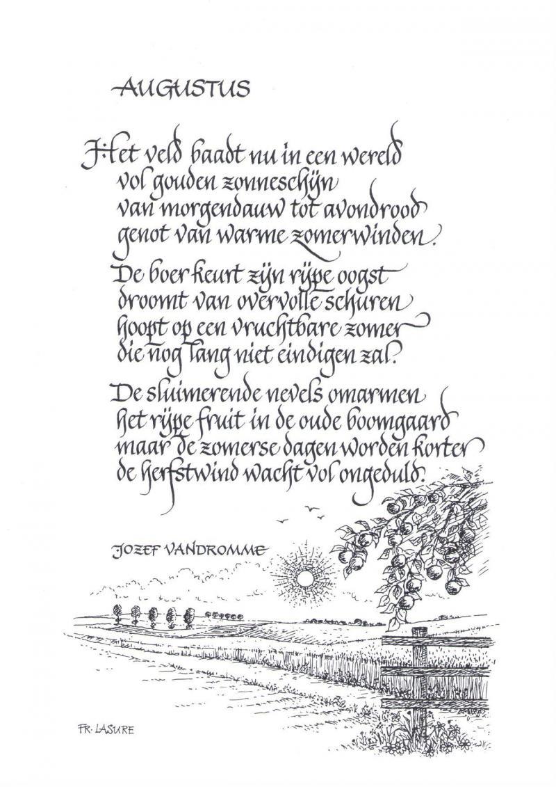 Augustus In Een Gedicht Landbouwleven