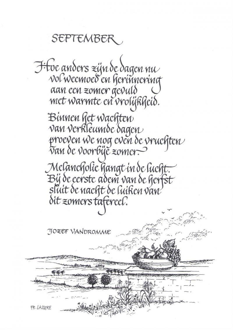 September In Een Gedicht Landbouwleven