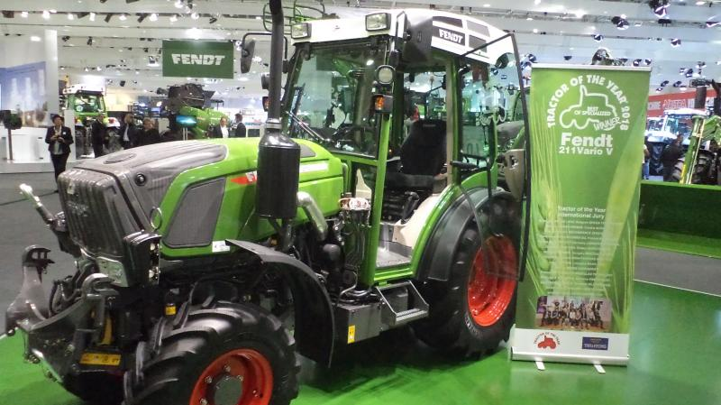 De Fendt 211 Vario V werd verkozen tot Tractor of the year' in de categorie 'best of specialized'.